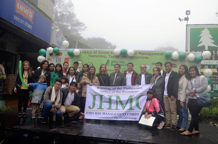 The John Hay Management Corporation (JHMC) employees together with Dr. Jaime Eloise M. Agbayani (center), President and CEO after the 113th Camp John Hay Anniversary